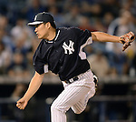 Masahiro Tanaka (Yankees),<br /> MARCH 28, 2014 - MLB :<br /> Masahiro Tanaka of the New York Yankees pitches during a spring training baseball game against the Miami Marlins at George M. Steinbrenner Field in Tampa, Florida, United States. (Photo by AFLO)