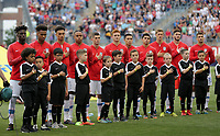 Chester, PA - Monday May 28, 2018: USMNT starting eleven during an international friendly match between the men's national teams of the United States (USA) and Bolivia (BOL) at Talen Energy Stadium.