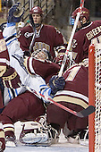 Mike Brennan, John Hopson, Anthony Aiello, Cory Schneider, Matt Greene - The Boston College Eagles defeated the University of Maine Black Bears 4-1 in the Hockey East Semi-Final at the TD Banknorth Garden on Friday, March 17, 2006.