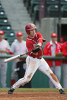 March 7 2010: Garret Houts of USC during game against University of New Mexico at Dedeaux Field in Los Angeles,CA.  Photo by Larry Goren/Four Seam Images