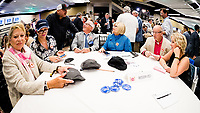 LOUISVILLE, KENTUCKY - MAY 03: A general view of the Thunder Snow table during the Kentucky Derby Draw at Churchill Downs on May 3, 2017 in Louisville, Kentucky. (Photo by Douglas DeFelice/Eclipse Sportswire/Getty Images)