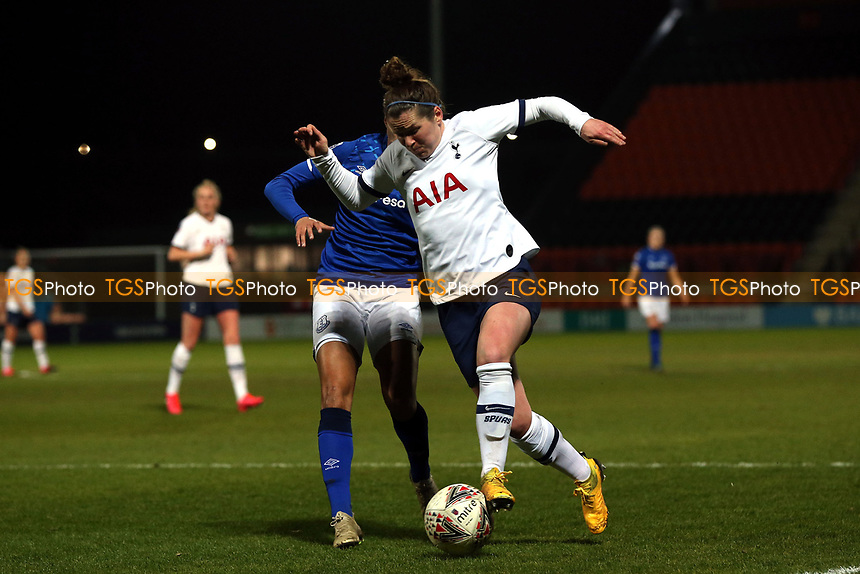 Chantelle Boye-Hlorkah of Everton women and Emma Mitchell of Tottenham Hotspur women  during Tottenham Hotspur Women vs Everton Women, Barclays FA Women's Super League Football at the Hive Stadium on 12th February 2020