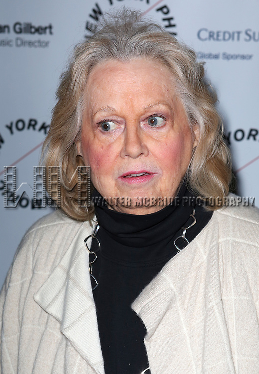 Barbara Cook attends the Opening Night Gala Party for the New York Philharmonic staged production of 'Sweeney Todd: The Demon Barber of Fleet Street'  at Avery Fisher Hall on March 5, 2014 in New York City.