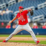 26 February 2019: St. Louis Cardinals pitcher Chris Beck on the mound during a Spring Training game against the Washington Nationals at the Ballpark of the Palm Beaches in West Palm Beach, Florida. The Cardinals defeated the Nationals 6-1 in Grapefruit League play. Mandatory Credit: Ed Wolfstein Photo *** RAW (NEF) Image File Available ***