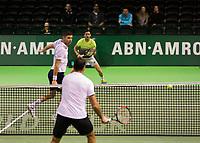 Rotterdam, Netherlands, 12 Februari, 2018, Ahoy, Tennis, ABNAMROWTT, Damir Dzumhur (BIH) / Filip Krajinovic (SRB), Nedad Zimonjic (SRB)<br /> Photo:tennisimages.com