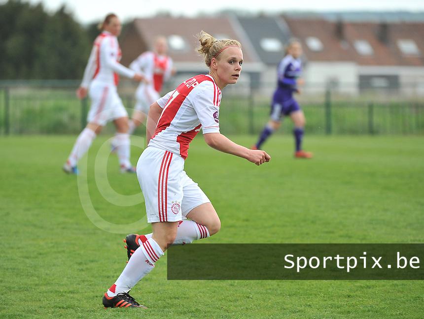 RSC Anderlecht Dames - Ajax Amsterdam : Vesna Veltrop .foto DAVID CATRY / Nikonpro.be