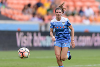 Houston, TX - Saturday April 15, 2017: Arin Gilliland chasing down a loose ball during a regular season National Women's Soccer League (NWSL) match won by the Houston Dash 2-0 over the Chicago Red Stars at BBVA Compass Stadium.