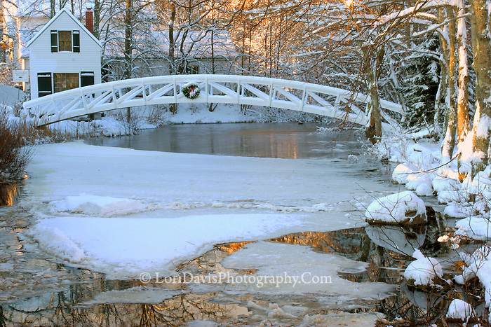Somesville Footbridge Winter #L5