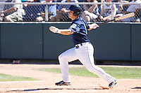 July 25, 2010: Everett AquaSox's Kevin Rivers (15) at-bat during a Northwest League game against the Salem-Keizer Volcanoes at Everett Memorial Stadium in Everett, Washington.