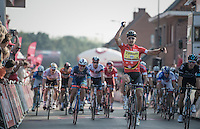Peter Sagan (SVK/Tinkoff) wins the bunch sprint ahead of the best sprinters in the world <br /> <br /> 12th Eneco Tour 2016 (UCI World Tour)<br /> stage 3: Blankenberge-Ardooie (182km)