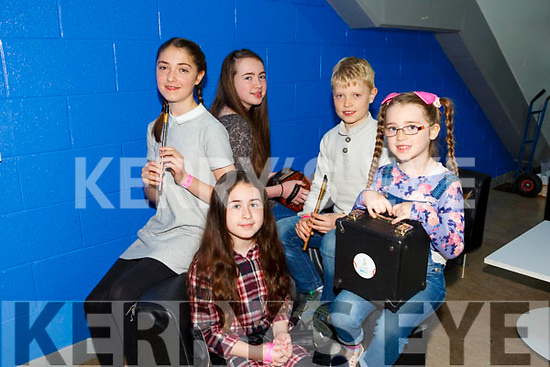 Ceol an Gheimhridh competitions at the IT Tralee South Campus on Saturday. Pictured were Rebecca Howe, Coraleigh Howe, Eva Horan, Katie Howe, Joe Horan from Milltown-Listry C.C.E.