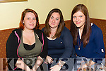 Enjoying the Fundraising Quiz night in aid of Amy at the Na Gaeil Clubhouse on Thursday were Nicky Sheehan, Ciara Conlon and Stephanie Nix.