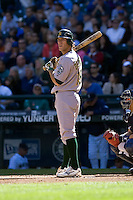 September 28, 2008: Oakland Athletics' Chris Denorfia at-bat during a game against the Seattle Mariners at Safeco Field in Seattle, Washington.