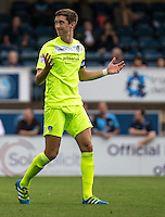 Luke Prosser of Colchester United during the Sky Bet League 2 match between Wycombe Wanderers and Colchester United at Adams Park, High Wycombe, England on 27 August 2016. Photo by Liam McAvoy.