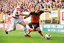 Dundee Utd's Gary Mackay-Steven gets away from Hamilton's Ziggy Gordon.