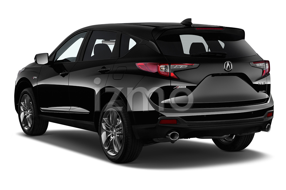 Car pictures of rear three quarter view of a 2020 Acura RDX A-Spec Package 5 Door SUV angular rear