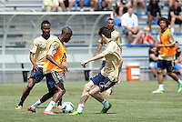 Prior to playing Manchester City in a friendly game at Busch Stadium, home of the St Louis Cardinals baseball team, Chelsea held a closed practice at Robert R Hermann Stadium on the campus of Saint Louis University..Ramires.