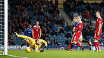 Martyn Waghorn scores his second and Rangers fourth goal past keeper Lee Robinson