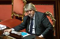 Giuliano Poletti<br /> Roma 03-12-2014 Senato. Voto di fiducia sul il Jobs Act.<br /> Photo Samantha Zucchi Insidefoto