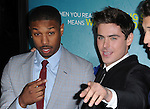 Michael B. Jordan and Zac Efron  attends That Awkward Moment Premiere held at The Premiere House at Regal Cinemas L.A. Live in Los Angeles, California on January 27,2014                                                                               © 2014 Hollywood Press Agency