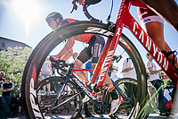 Luka Pibernik (SVK/Bahrain-Merida) up the final climb towards the Citt&agrave; Alta in Bergamo<br /> <br /> Stage 15: Valdengo &rsaquo; Bergamo (199km)<br /> 100th Giro d'Italia 2017