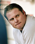 Washington, D.C. - June 16, 2006 -- New York Yankee infielder Jason Giambi (25) watches game action from the dug-out against the Washington Nationals at RFK STadium in Washington, D.C. on June 16, 2006..Credit: Ron Sachs / CNP