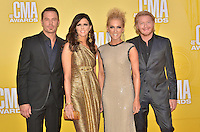 NASHVILLE, TN - NOVEMBER 1: Little Big Town on the Macy's Red Carpet at the 46th Annual CMA Awards at the Bridgestone Arena in Nashville, TN on Nov. 1, 2012. © mpi99/MediaPunch Inc. /NortePhoto .<br />