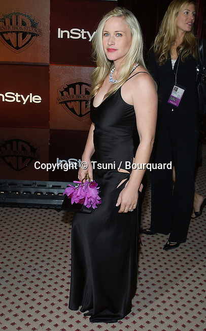 Patricia Arquette arriving at the Golden Globes after Party InStyle / Warner at the Beverly Hilton in Los Angeles. January 25, 2004.
