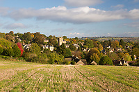 United Kingdom, England, Gloucestershire, Blockley: Cotswold village in autumn | Grossbritannien, England, Gloucestershire, Blockley: typisches Dorf der Region Cotswolds