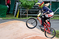 MEDELLIN- COLOMBIA -29-05-2016: Daniela George (USA) durante su participación en la categoría elite mujeres en el marco del Campeonato Mundial de BMX 2016 que se realiza entre el 25 y el 29 de mayo de 2016 en la ciudad de Medellín. / Daniela George (USA) during her performance in the women elite's categories as part of the 2016 BMX World Championships to be held between 25 and 29 May 2016 in the city of Medellin. Photo: VizzorImage / Cristian Alvarez / CONT