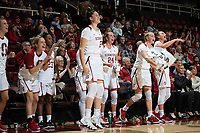 Stanford, Ca - November 7, 2018: The Stanford Cardinal opens the 2018-2019 season with a 71-43 win over the UC Davis Aggies at Maples Pavilion.