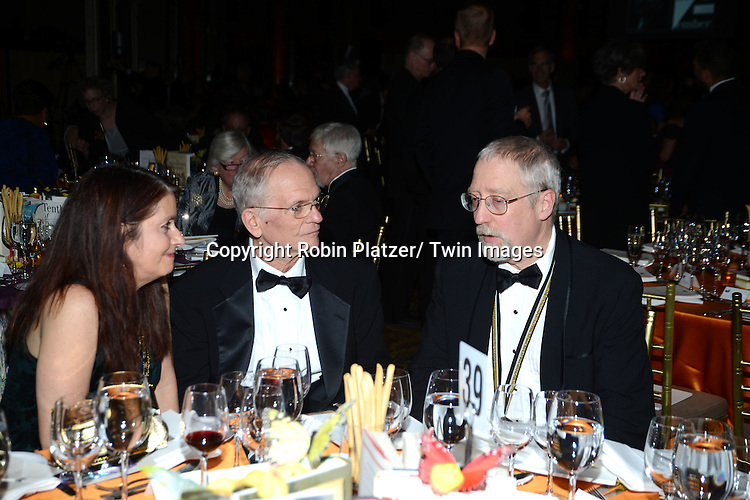 Guests at table attend the 2013 National Book Awards Dinner and Ceremony on November 20, 2013 at Cipriani Wall Street in New York City.