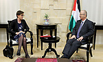 Palestinian Prime Minister, Rami Hamdallah, meets with Deputy Minister for Foreign Affairs of Sweden Anika Soder, in the West Bank city of Ramallah, on October 11, 2017. Photo by Prime Minister Office