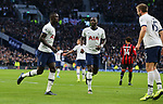 Tottenham's Davinson Sanchez (L) celebrates after scoring to make it 2-0 which is then disallowed by VAR during the Premier League match at the Tottenham Hotspur Stadium, London. Picture date: 30th November 2019. Picture credit should read: Paul Terry/Sportimage