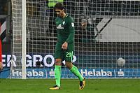 Frust bei Ilshak Belfodil (SV Werder Bremen) - 03.11.2017: Eintracht Frankfurt vs. SV Werder Bremen, Commerzbank Arena