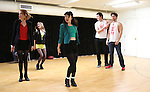 Jessica Keenan Wynn, Elle McLemore, Barrett Wilbert Weed, Alice Lee, Jon Eidson and Evan Todd performing at the Open Press Rehearsal for 'Heathers The Musical' on February 19, 2014 at The Snapple Theatre Center in New York City.