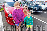 Robbie Keane Stack , Kaiya Brown and Catriona Commerford admiring the cars at the Ballybunion Vintage rally on Sunday