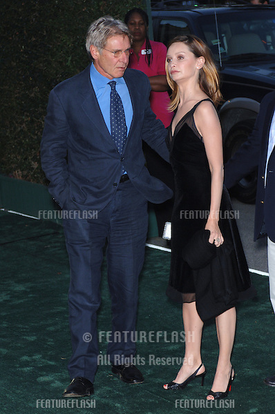 Actor HARRISON FORD & girlfriend actress CALISTA FLOCKHART at the 15th Annual Environmental Media Awards in Los Angeles..October 19, 2005 Los Angeles, CA..© 2005 Paul Smith / Featureflash