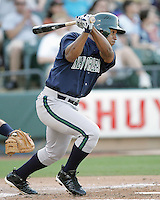 New Orleans Zephyrs 2B Abraham Nunez on Sunday June 1st at Dell Diamond in Round Rock, Texas. Photo by Andrew Woolley / Four Seam Images..
