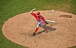 28 July 2013: Washington Nationals pitcher Craig Stammen on the mound against the New York Mets at Nationals Park in Washington, DC. The Nationals defeated the Mets 14-1. Mandatory Credit: Ed Wolfstein Photo *** RAW (NEF) Image File Available ***