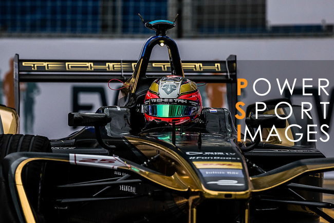 Jean-Eric Vergne of Techeetah Racing team during the first race of the FIA Formula E Championship 2016-17 season HKT Hong Kong ePrix at the Central Harbourfront Circuit on 9 October 2016, in Hong Kong, China. Photo by Victor Fraile / Power Sport Images