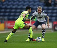 Preston North End's Garath McCleary in action with Reading's Garath McCleary<br /> <br /> Photographer Mick Walker/CameraSport<br /> <br /> The EFL Sky Bet Championship - Preston North End v Reading - Saturday 11th March 2017 - Deepdale - Preston<br /> <br /> World Copyright &copy; 2017 CameraSport. All rights reserved. 43 Linden Ave. Countesthorpe. Leicester. England. LE8 5PG - Tel: +44 (0) 116 277 4147 - admin@camerasport.com - www.camerasport.com