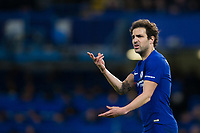 Chelsea's Cesc Fabregas reacts <br /> <br /> Photographer Craig Mercer/CameraSport<br /> <br /> The Premier League - Chelsea v West Bromwich Albion - Monday 12th February 2018 - Stamford Bridge - London<br /> <br /> World Copyright &copy; 2018 CameraSport. All rights reserved. 43 Linden Ave. Countesthorpe. Leicester. England. LE8 5PG - Tel: +44 (0) 116 277 4147 - admin@camerasport.com - www.camerasport.com