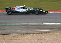 Lewis Hamilton of Mercedes-AMG Petronas Motorsport during the Mercedes-AMG F1 W09 EQ Power+ 2018 F1 Car Launch at Silverstone, England on 22 February 2018. Photo by Vince  Mignott.