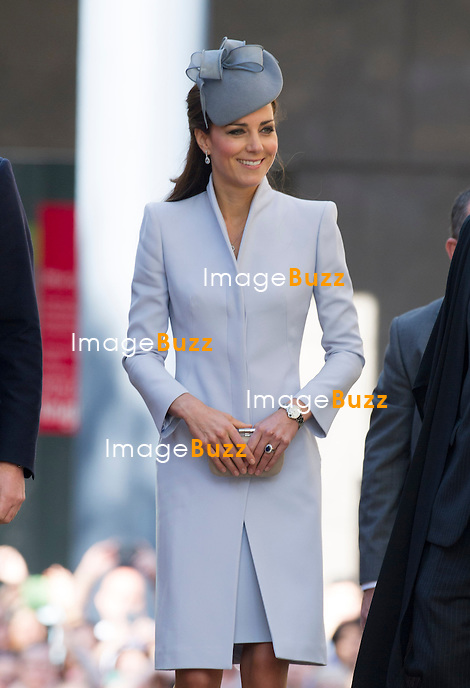 KATE, DUCHESS OF CAMBRIDGE AND PRINCE WILLIAM<br /> attend Easter Service at St. Andrew's Cathedral in Sydney, Australia<br /> The Duchess wore an Alexander McQueen Coat topped off with a hat by Jane Taylor.<br /> Sidney, Australia, 20.04.14