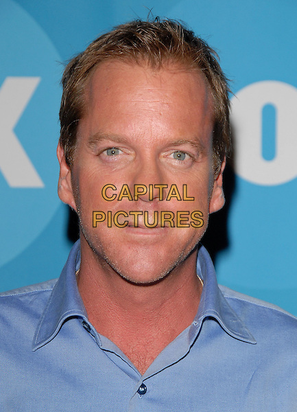 KIEFER SUTHERLAND.attends The FOX Network TCA Party held at Ritz Carlton Huntington Hotel in the Horseshoe Garden in Pasadena, California, USA, July 25 , 2006..portrait headshot blue shirt Keifer.Ref: DVS.www.capitalpictures.com.sales@capitalpictures.com.©Debbie VanStory/Capital Pictures