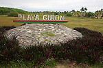 Playa Girón Sign