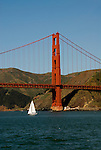 San Francisco, California: Golden Gate Bridge and Marin Headlands. Photo 15-casanf78178. Photo copyright Lee Foster.