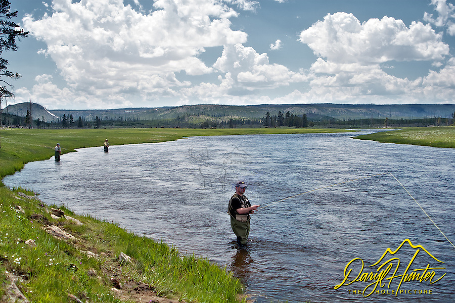 Fly-fishing Yellowstone, Fly fisherman, Firehole River, Yellowstone National Park