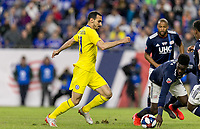 "Foxborough, Massachusetts - May 15, 2019: In ""Final Whistle on Hate"" charity match, Chelsea FC (yellow) vs New England Revolution (blue/white), 3-0, at Gillette Stadium on May 15, 2019 in Foxborough, Massachusetts. (Photo by Andrew Katsampes/ISI Photos)."